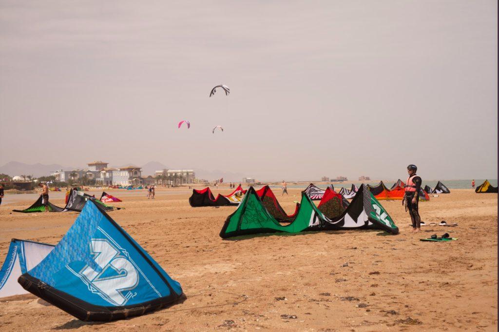 Spot kitesurfingowy w El Gounie