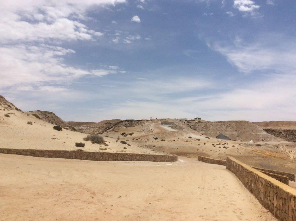 Kitesurfing na pustyni