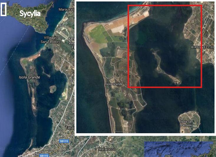 Laguna Lo Stagnone na Sycylii