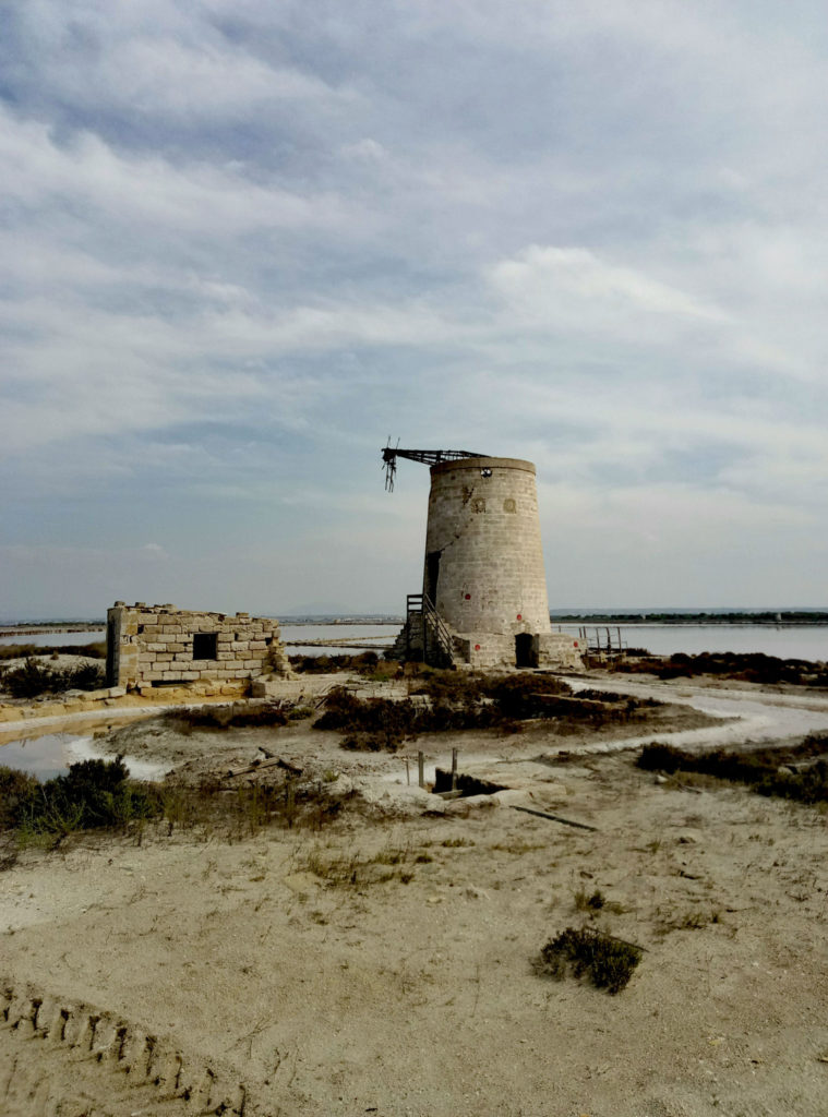 Lo Stagnone. Saliny na wyspie Sana Maria.