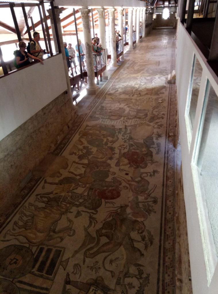 Doskonale zachowane mozaiki w Villa Romana