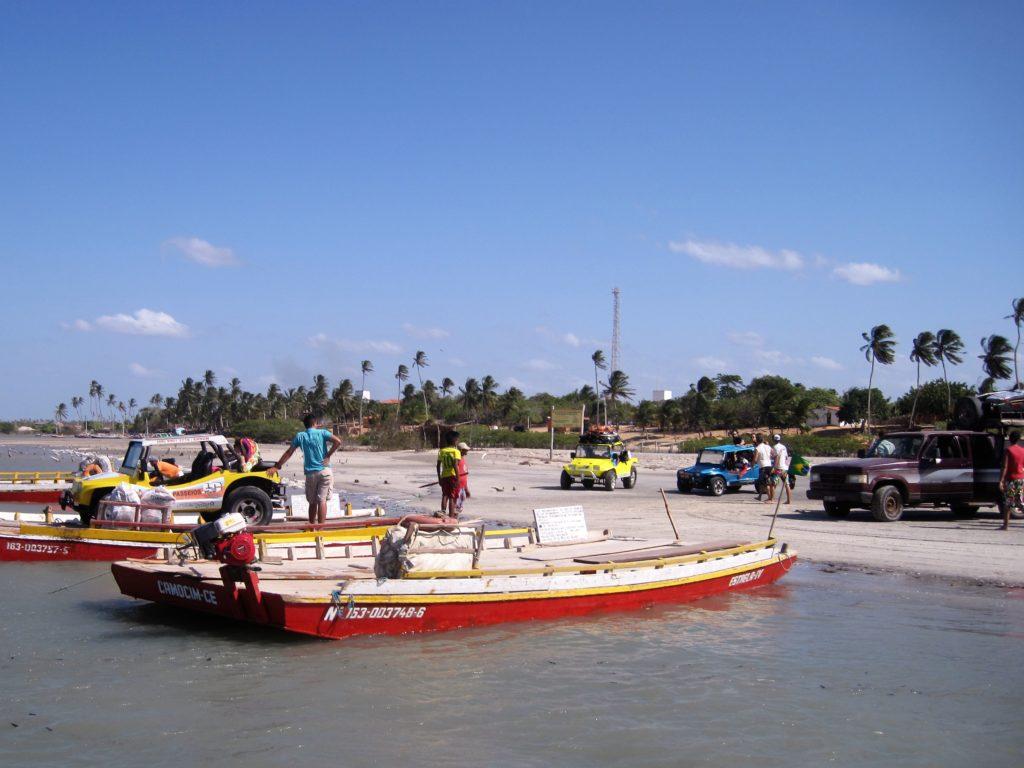 Wycieczka kitesurfing na lagunie wymaga przeprawy promem