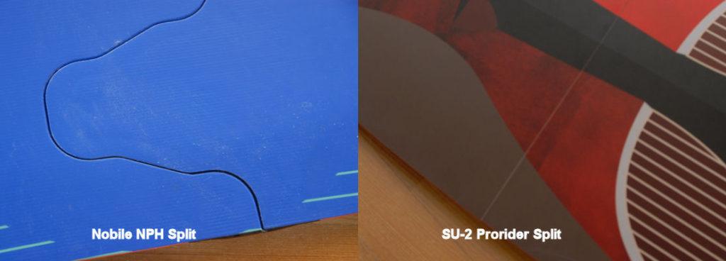 Widok łączenia desek split od spodu