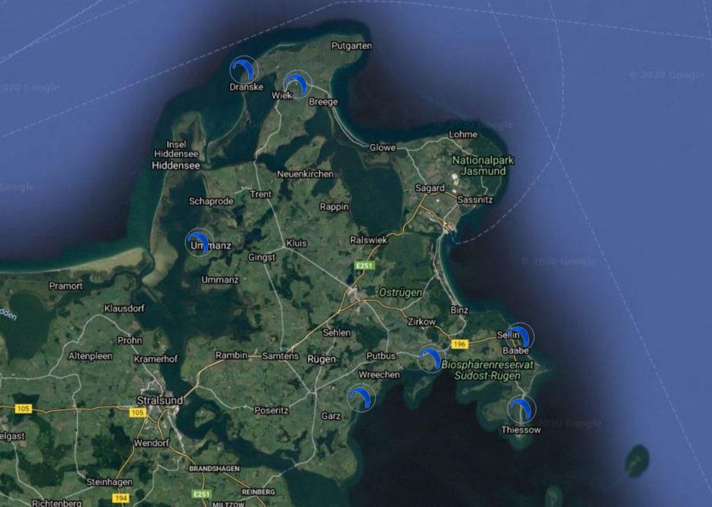 Rugia, największa wyspa Pomorza idealnie nadaje się kitesurfingu