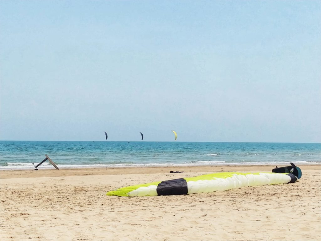 Tajladia, Pac Nam Pran, kitesurfing