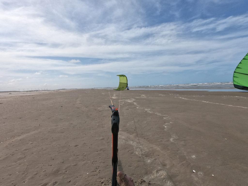 Podczas długich odcinków odpoczynek na plaży był konieczny