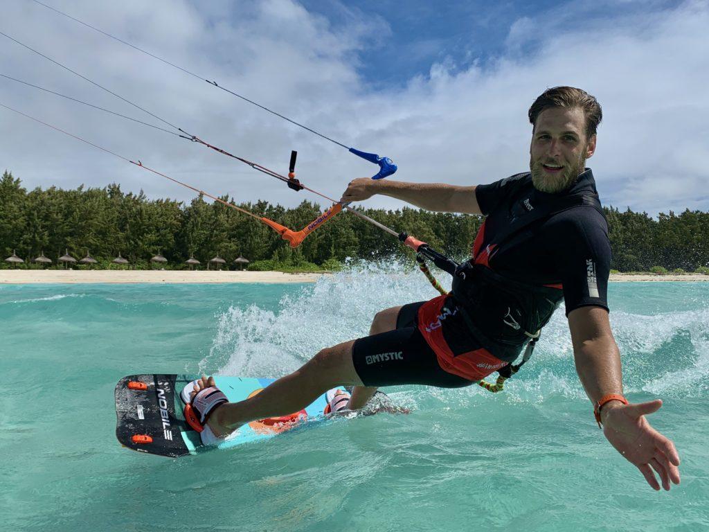 Kitesurfing na Mauritiusie