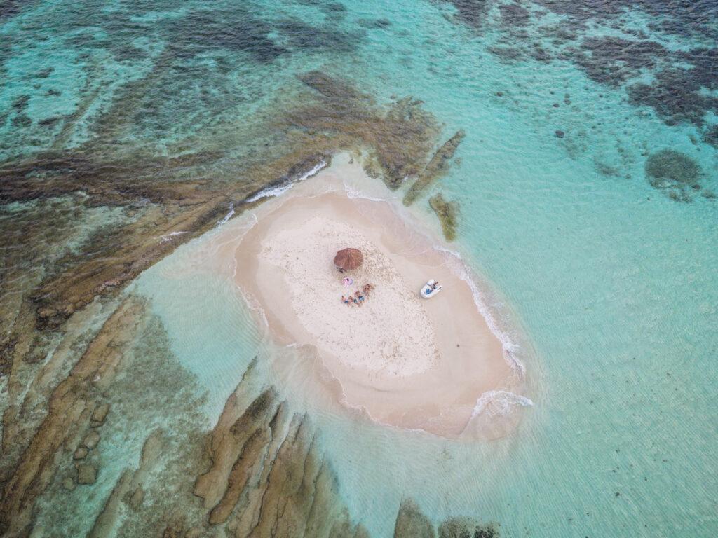Happy Island na Karaibach  - jedyna taka knajpa na świecie