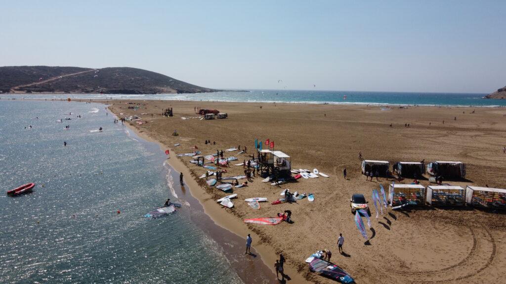 Spot kitesurfingowy na Prasonisi